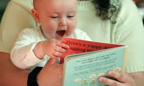 mom & baby reading